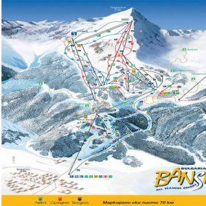 Bansko ski map